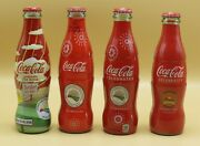 4 Diff. Sunbelt Agriculturale Expo Coca-cola Glass Bottles Acl And Sleeve / Wrap