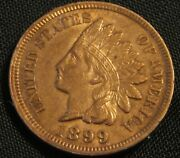 1899 1c Indian Small Cent Penny An1
