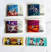 Soviet Russia Cccp Vintage Collectable Stamp Set Of 6 - Space - Unused