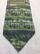 Endangered Species Mens Tie Green And Gray With Rhinos 4 X 60