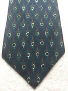 Bert Pulitzer Mens Tie Green With Purple And Gold 4 X 59
