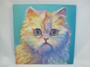 Sweater Queen Renee Tener Psychedelic Long Haired Kitty Cat Painting