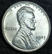 1943-p Bu Uncirculated Steel Lincoln Cent Wheat Penny Usa Coin