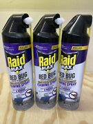 3 Raid Max Foaming Crack And Crevice Bed Bug Killer 17.5 Oz New Can Sprays