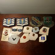 13pc Set Of Vintage U.s Air Force Marine Corps Pins And Patches Cadet Major Usmc