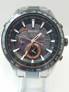 Vintage Seiko Astron Gps Solar Sbxa015 7x52-0af0 Menand039s Watch Used Authentic