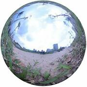 Durable Stainless Steel Gazing Ball, Hollow Ball Mirror Globe Polished 16 Inch