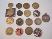 Lot Of 17 Vintage Medallions And Collectible Challenge Coins - Bba-29