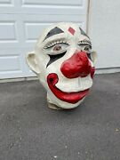 1930and039s Huge Circus Carnival Antique Hand Painted Folk Art Rare Paper Mache Clown