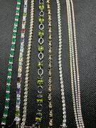 Sterling Silver And Stones Bracelet Lot