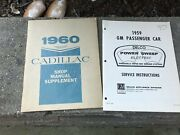 Vintage Gm Shop Manuals 1959and1960 Nice Condition.