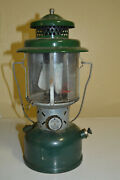 Vintage Coleman 220e Lantern Dated 1/60 Green Pyrex Globe Untested 1960