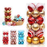 1/2 Set Christmas Ball Ornaments Xmas Tree Ball Bauble Hanging Home Party Decor