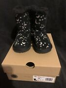 Toldders Uggs Bailey Bow Moon And Stars Size 6 Black