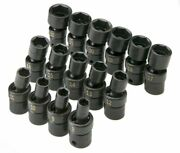 Sk Hand Tools 33350 15-piece 3/8-inch Drive 6 Point Swivel Metric High Visibilit