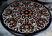 48 Inch Royal Look Marble Dining Table Top Inlay Floral Design Floor Highlighter