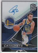 2019-20 Panini Spectra Stephen Curry Catalyst Prizm Autograph Card Limited To 15
