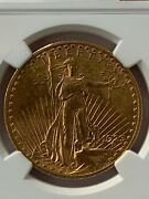1923 20 Dollar Saint Gaudens Gold Double Eagle Ngc Certified Ms 62
