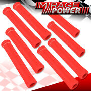 For Eagle 8 Piece Slip On Spark Plug Wire Heat Sleeve Insulation Wrap Red