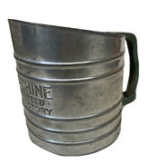 Early Old Sift Chine Double Screen Hand Squeeze Sifter Green Handle Farmhouse