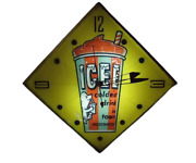The Icee Company Electric Illuminated Clock Promotional Goods 1960s Vintage Jp