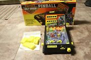 Vintage 1995 Harley Davidson Tabletop Toy Pinball Machine By Tyco Works