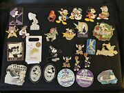 Authentic Disney Pin Lot Approx. 142 Pins W/medium Pin Bag Most Limited Edition
