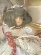 Gorham Vintage 1986 Victorian Tree Topper Angel Christmas With Green Fancy Dress