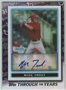 2021 Topps Series 1 Topps Through The Years Mike Trout 2009 Bowman Chrome