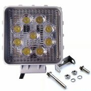 2pcs 27w Square Led Work Light Spot For Off-road Suv Car Boat Truck