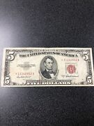 1953a 5 Star Red Seal United States Note - Start With 111 Serial Number