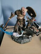God Of War Stone Mason Collectorand039s Statue Figure Only Kratos And Atreus Ps