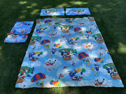 Vtg 80s Complete Disney Mickey Air Mobile Twin Bed Comforter Pillow Case And Sheet