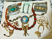 1928 Signed Knockout Colors Vintage Costume Jewelry Lot Including Nos