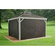 10 X 10 Messina Sun Shelter Curtains For Champagne Sun Shelter Privacy