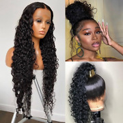 360 Lace Frontal Water Wave 13x4lace Front Wig Hair Wig Curly Virgin 180density