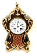 French Antique Mahogany And Ormolu Bracket / Mantel Clock Japy Freres And Cie