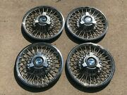 65 66 Ford Mustang Fairlane Wire Wheel Covers Spoke Spinner Hubcaps 14