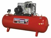 Sealey Sac55075b Compressor 500ltr Belt Drive 7.5hp 3ph 2-stage With Cast Cylind