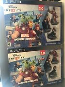Lot Of 2 New Disney Infinity Ps3 Marvel Super Heroes 2.0 Edition Starter Pack