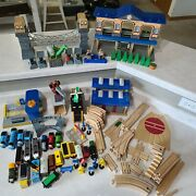 Huge Amount Of Thomas The Train Engine Wooden Trains Tracks And Buildings Lot