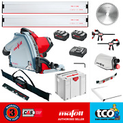 Mafell Mt55 18m Bl 18v Cordless Plunge Cut Saw + 2x Guide Rail Clamps + Bag