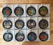 Russian Legends Plates Complete Set Of 12, Collector Condition Russian Folklore