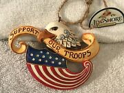 Christmas Ornament Jim Shore Support Our Troops Eagle Us Flag Ex5174