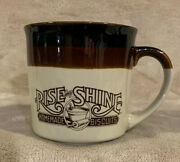 Vtg 1984 Hardees Rise And Shine Two Tone Ceramic Coffee Mug Cup Homemade Biscuits