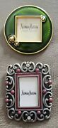 Jay Strongwater Neiman Marcus Mini Picture Frames Or Clip Pin Enamel Set Of 2