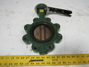 Centerline Series 200 4 Lug Type Butterfly Valve W/manual Hand Lever Actuated