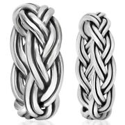 Braided 925 Sterling Silver Thin / Thick Rings Men Women Size 6 8 10 11 12 13 15