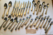 Lunt Silversmiths Jefferson Pewter Handle Stainless Flatware Set 6 Place Setting