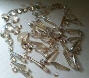 Antique Vintage Lot Of Cut Smoke Crystal Glass Luster French Prism Chandelier